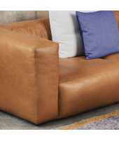 Mags Soft Sofa 3-zits Leather Silk 0250
