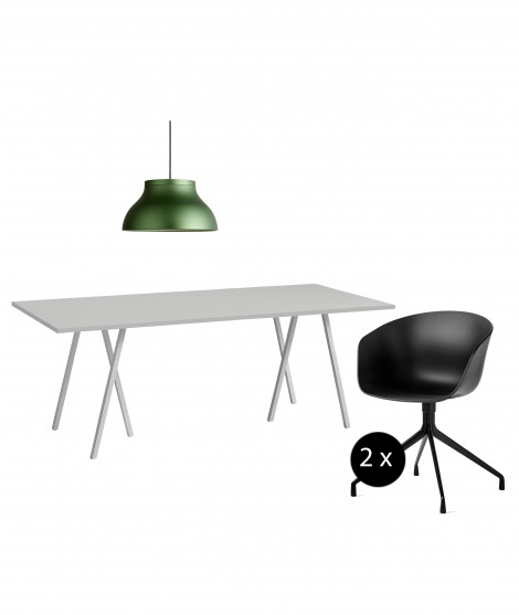 Kantoor set-up 3 / Loop Stand Table, PC Pendant, AAC 20