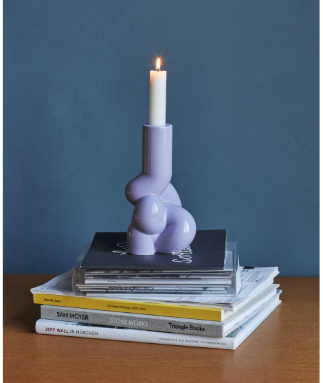 HAY W&S Kandelaar Wand & Soderstrom Candleholder Soft Lavender Yellow Complot Ivory