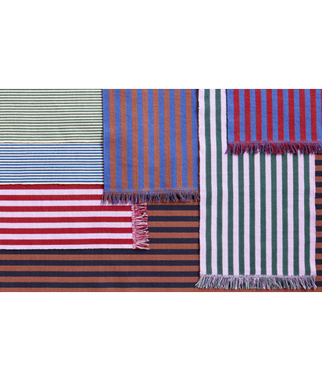 Stripes and stripes bluebell ripple vloerkleed