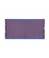 Stripes and Stripes Door Mat cacao sky