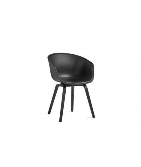 HAY About A Chair AAC 22 Black Leather Silk Black