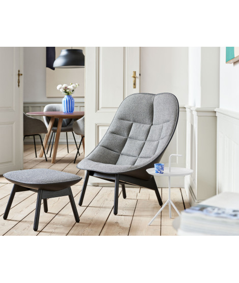 Uchiwa Quilt Lounge Chair with ottoman