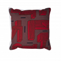 Printed cushion red