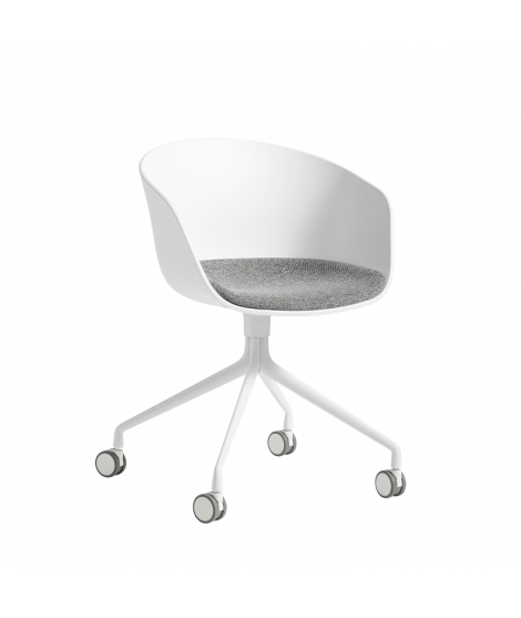 HAY About A Chair AAC24, white hallingdal 126 cushion