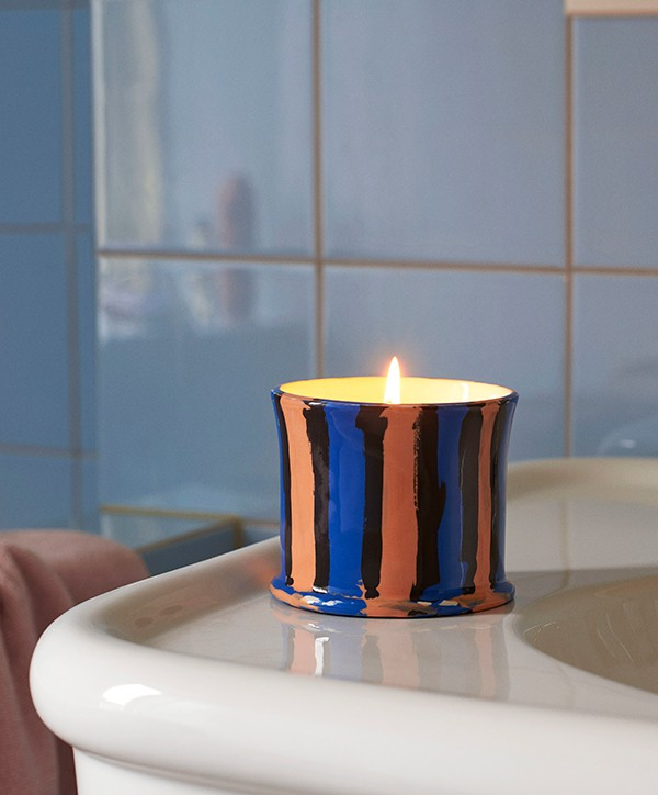 HAY Striped Scented Candle